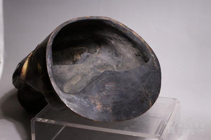 清代 释迦牟尼紫铜佛像图9