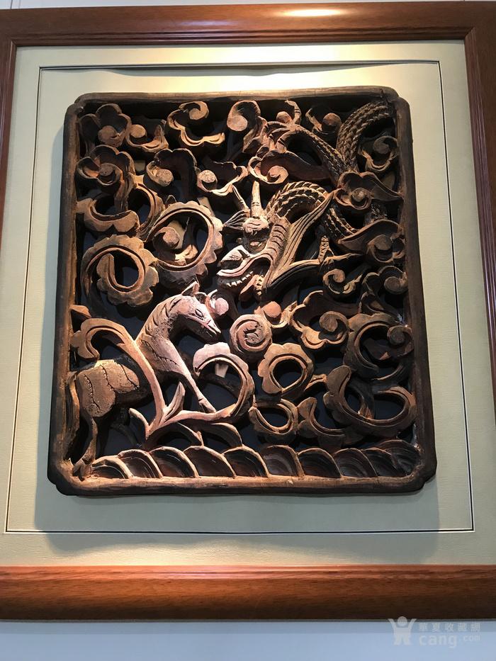 清代 矿物彩整版透木雕图2