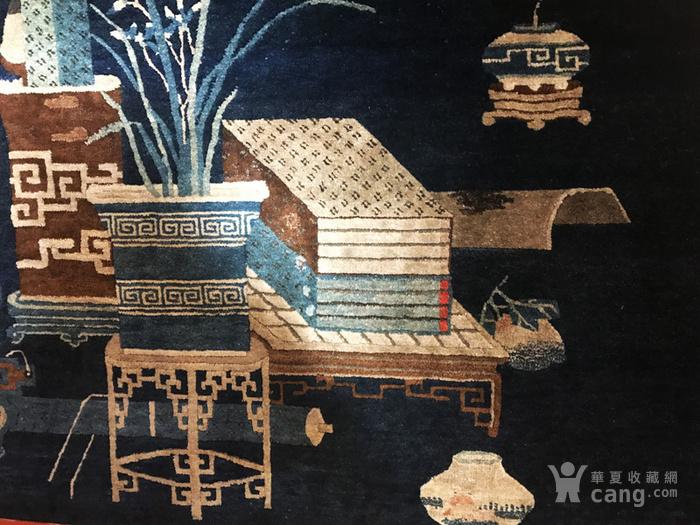 220厘米 收藏级别 庚申年 清中期 清供图 壁毯图5