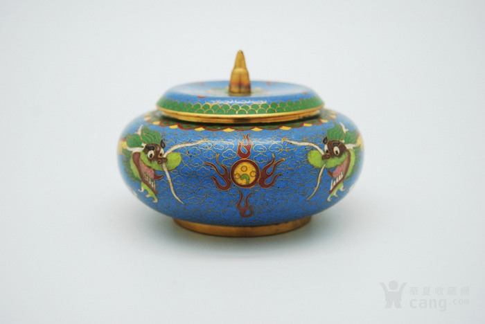 铜胎景泰蓝盖盒c72.20图1