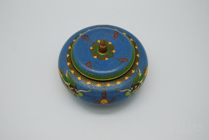 铜胎景泰蓝盖盒c72.20图2