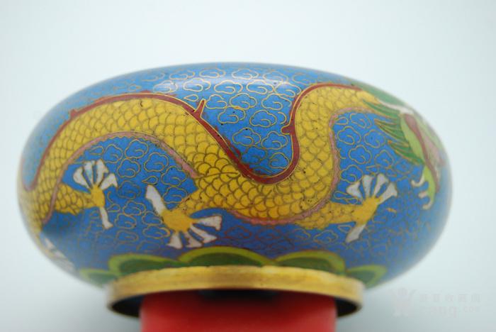 铜胎景泰蓝盖盒c72.20图4