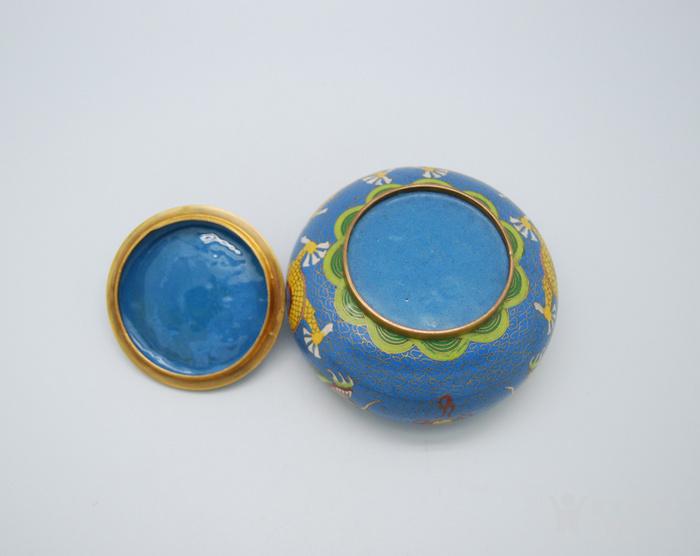 铜胎景泰蓝盖盒c72.20图7