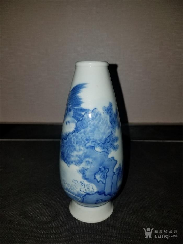 青花鸟小瓶图1