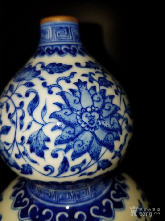 青花缠枝葫芦瓶图3