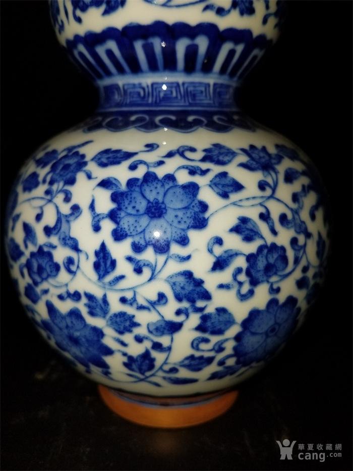 青花缠枝葫芦瓶图4