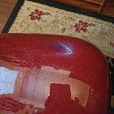 一对红釉冬瓜罐的补图
