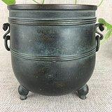 清代传世精品内府款铜香炉