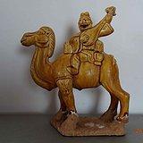 黄釉骆驼胡人俑