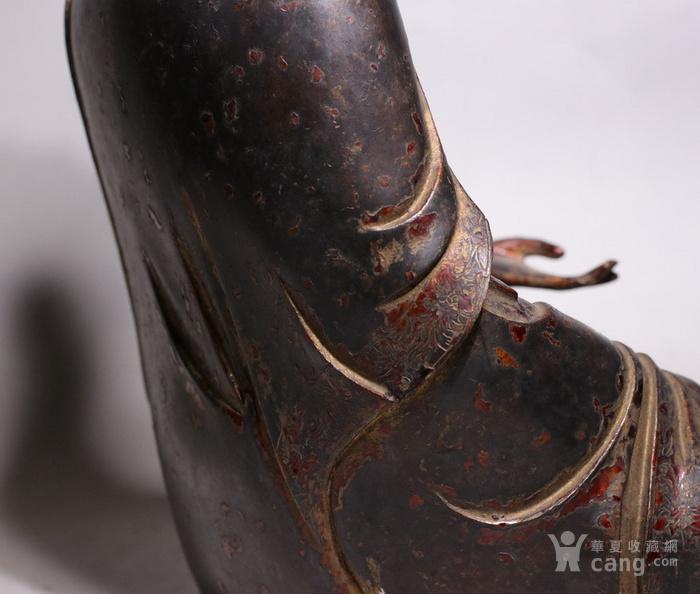 清代 释迦牟尼紫铜佛像图6