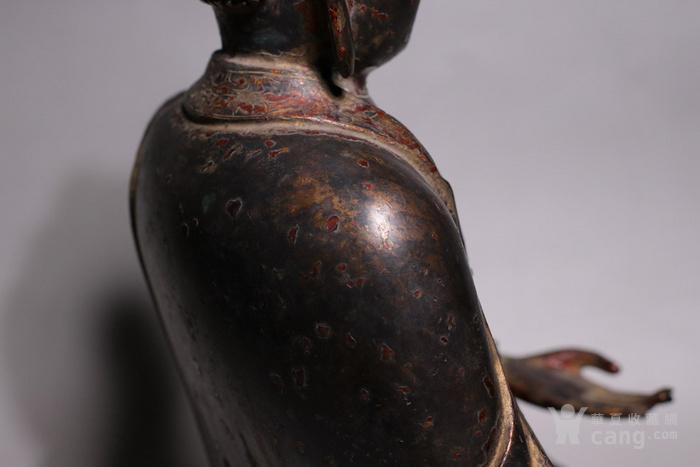 清代 释迦牟尼紫铜佛像图5
