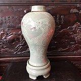 传世青瓷龙纹梅瓶