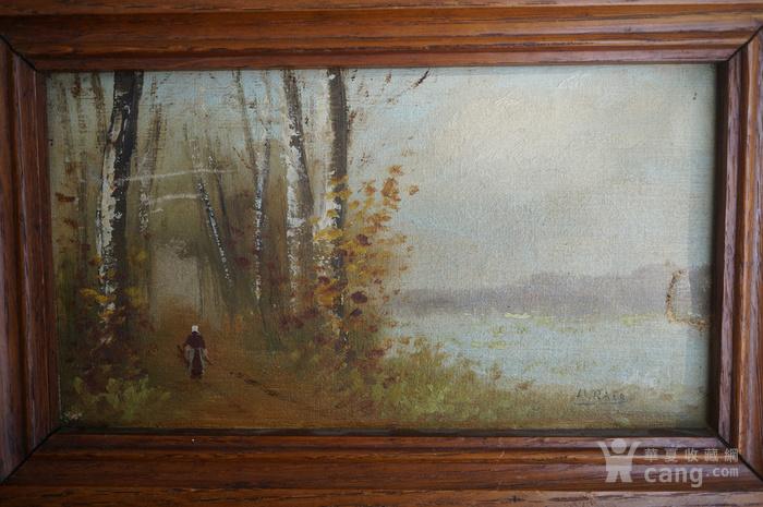 欧洲老油画带签名图5