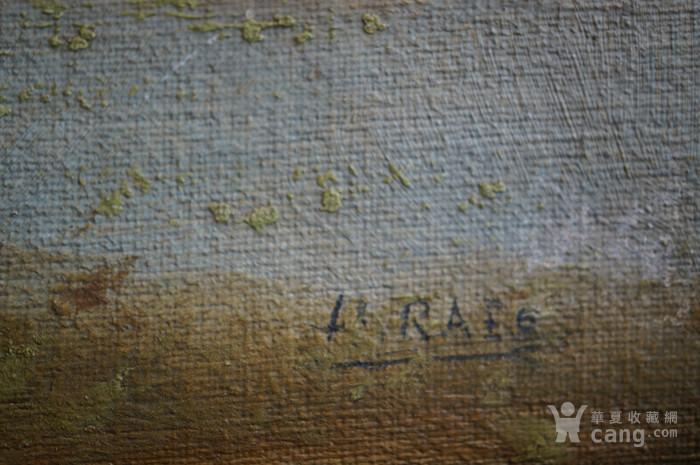 欧洲老油画带签名图8