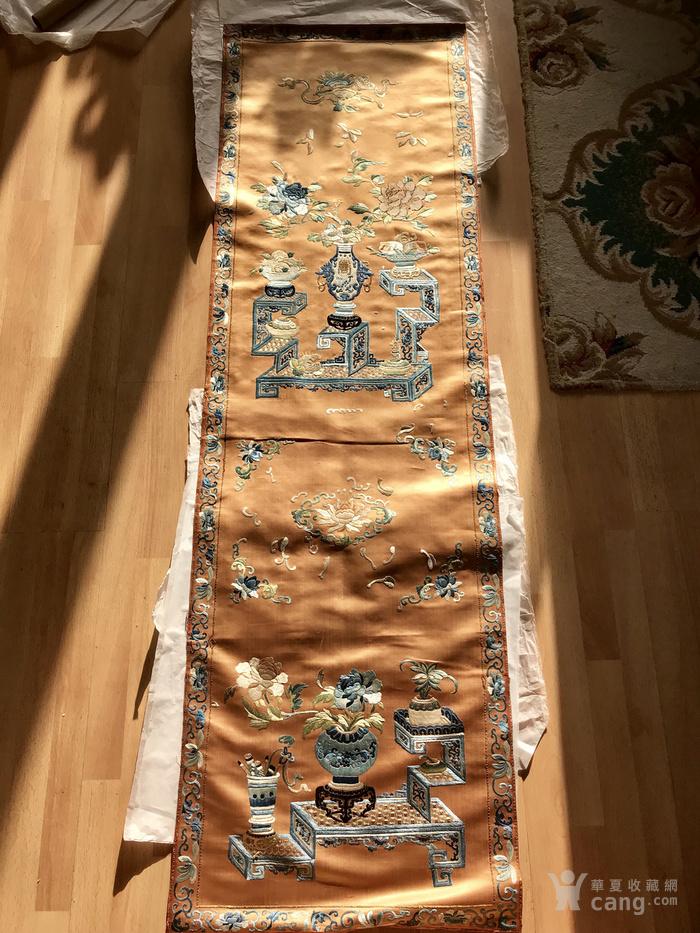 清代 博古 精品 绣品 一件。图2
