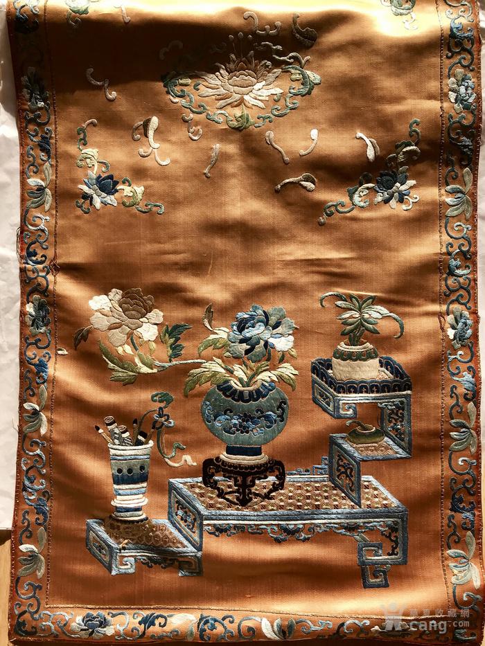 清代 博古 精品 绣品 一件。图3