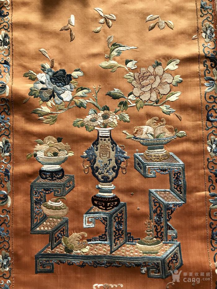 清代 博古 精品 绣品 一件。图5