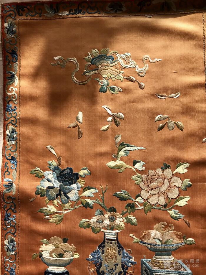 清代 博古 精品 绣品 一件。图6