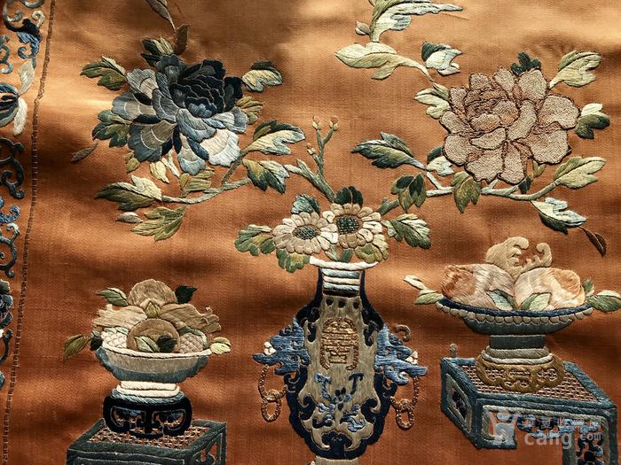 清代 博古 精品 绣品 一件。图7