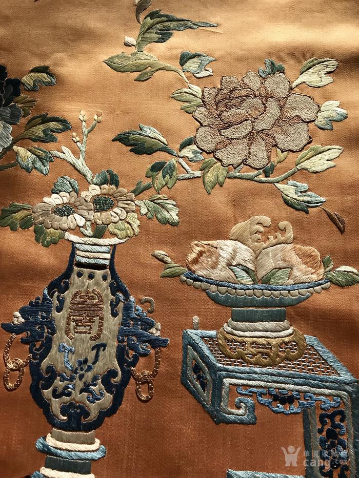 清代 博古 精品 绣品 一件。图9