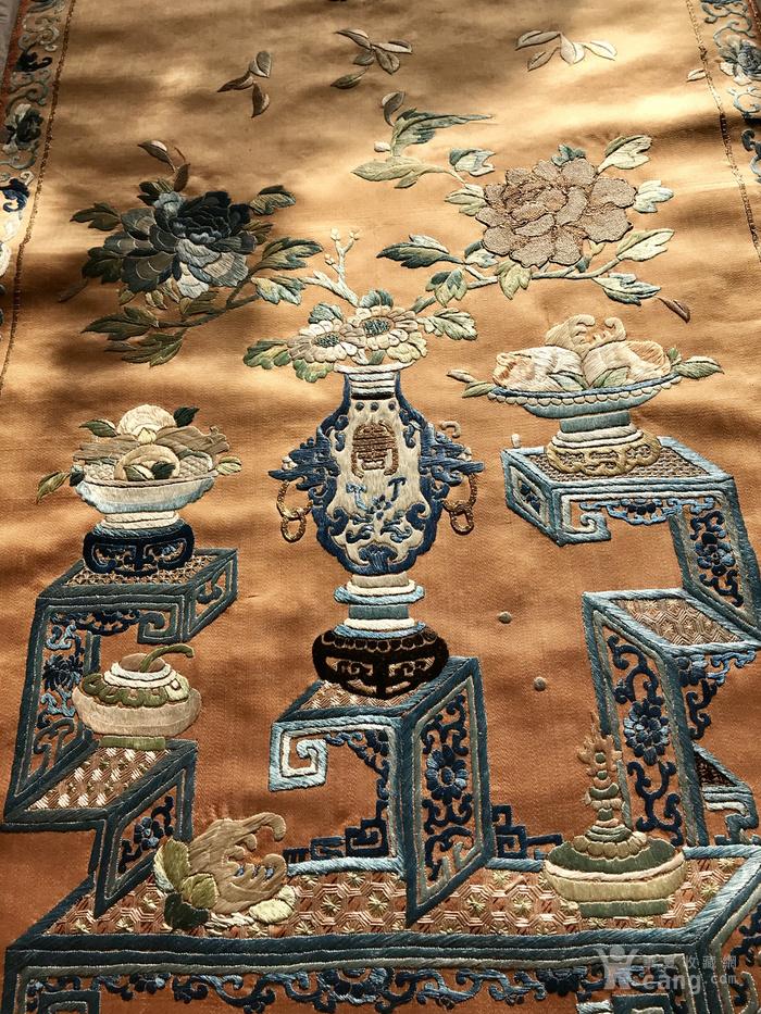 清代 博古 精品 绣品 一件。图10