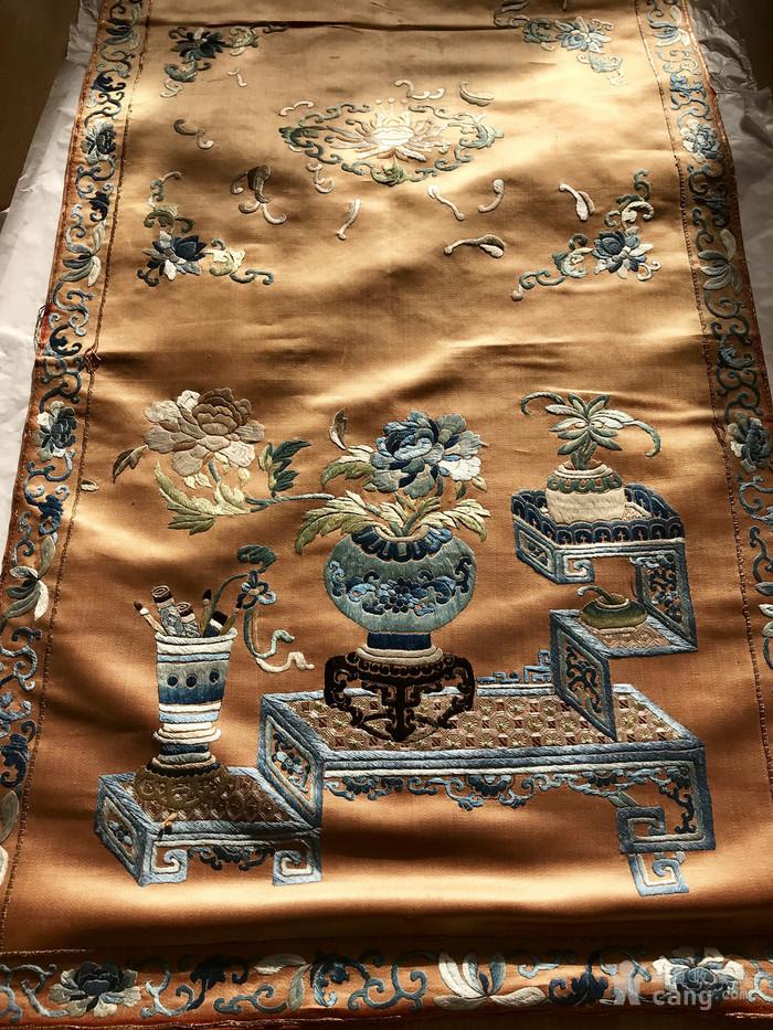 清代 博古 精品 绣品 一件。图12
