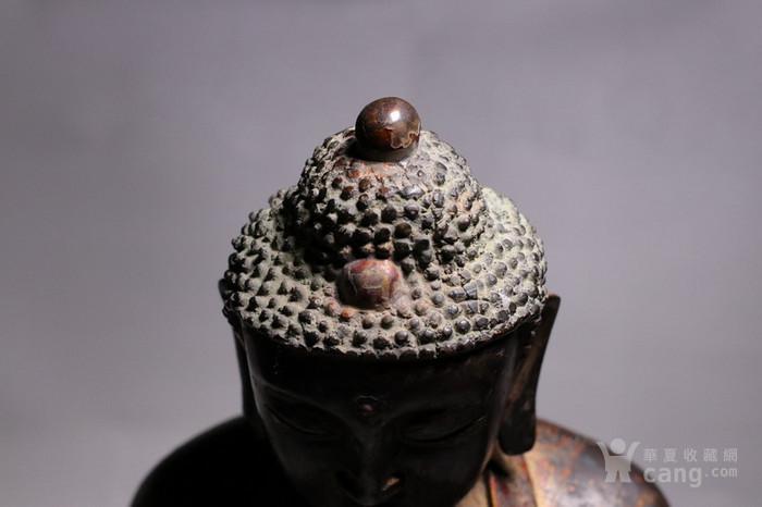 清代 释迦牟尼紫铜佛像图4