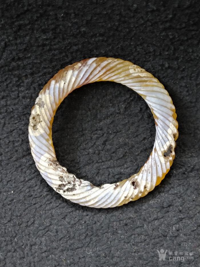 老满沁玛瑙绞丝环图2