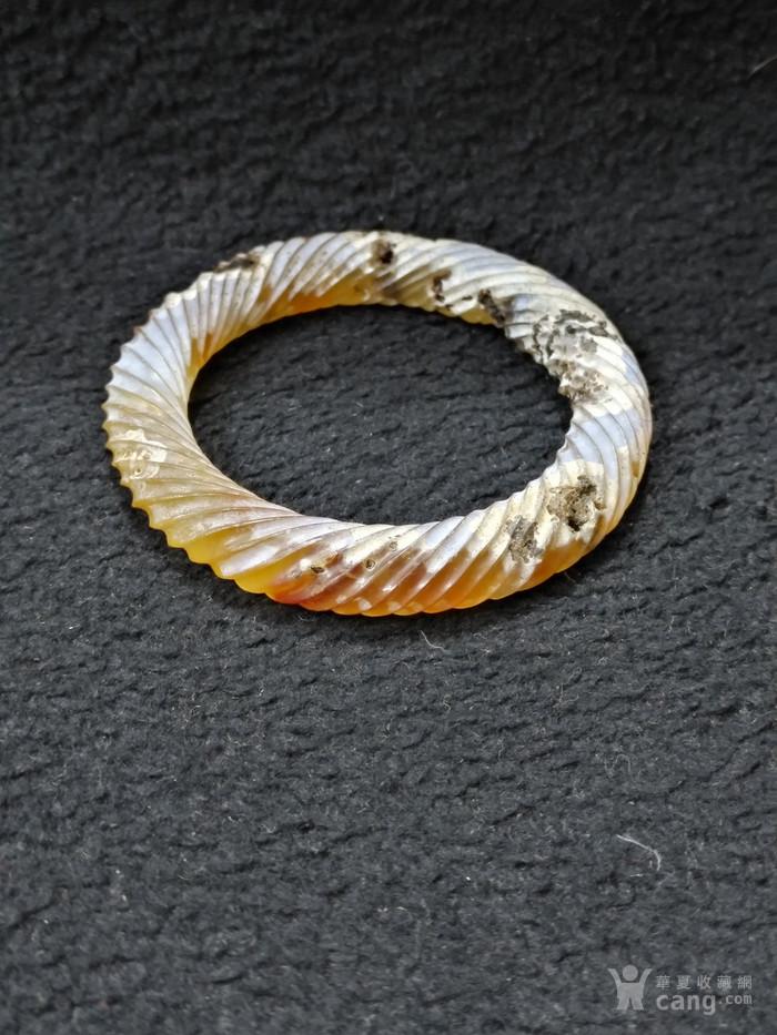 老满沁玛瑙绞丝环图8
