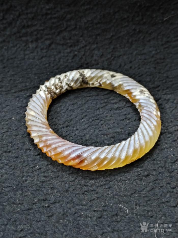 老满沁玛瑙绞丝环图9