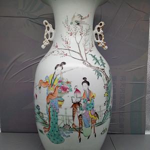 名家,江永兴作,细路瓷瓶。