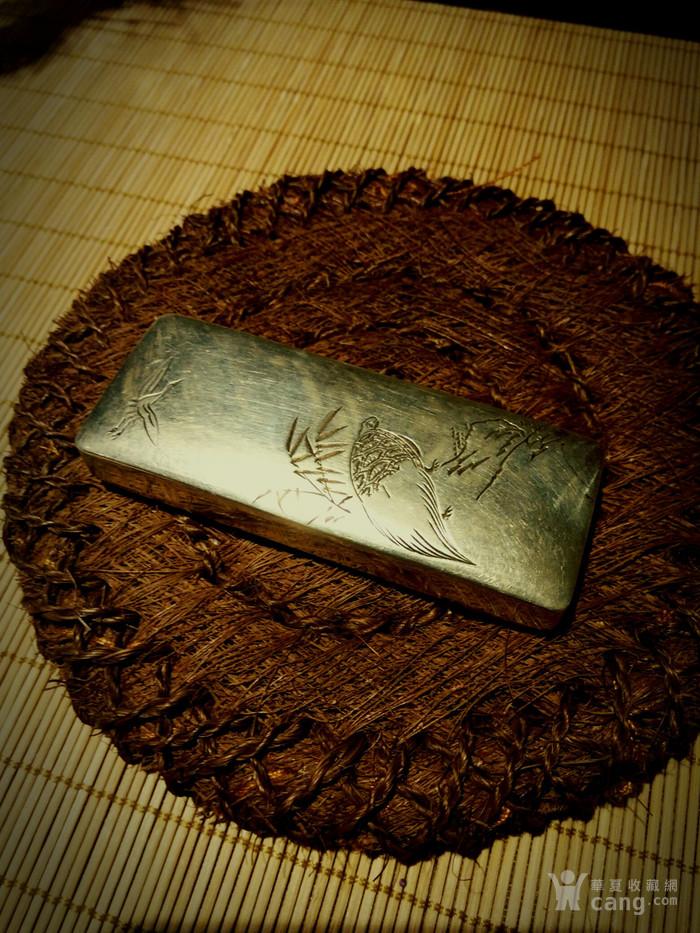542 日本雕刻小银盒 纯银制做名手工刻图1