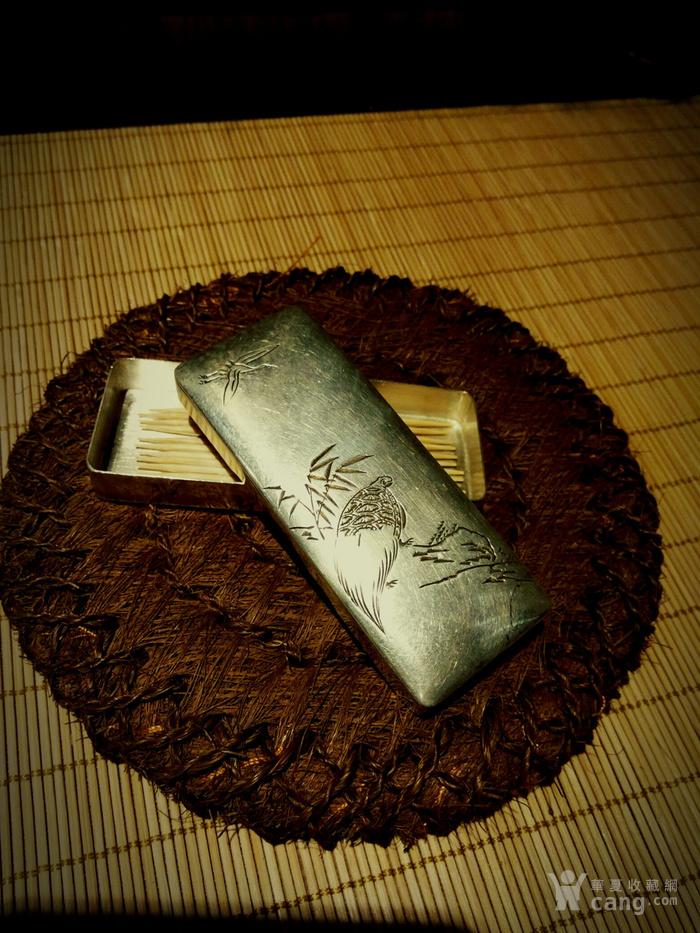 542 日本雕刻小银盒 纯银制做名手工刻图3