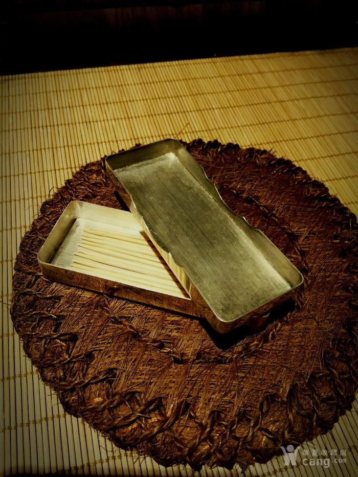 542 日本雕刻小银盒 纯银制做名手工刻图5