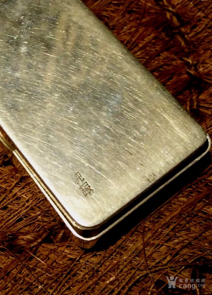 542 日本雕刻小银盒 纯银制做名手工刻图7