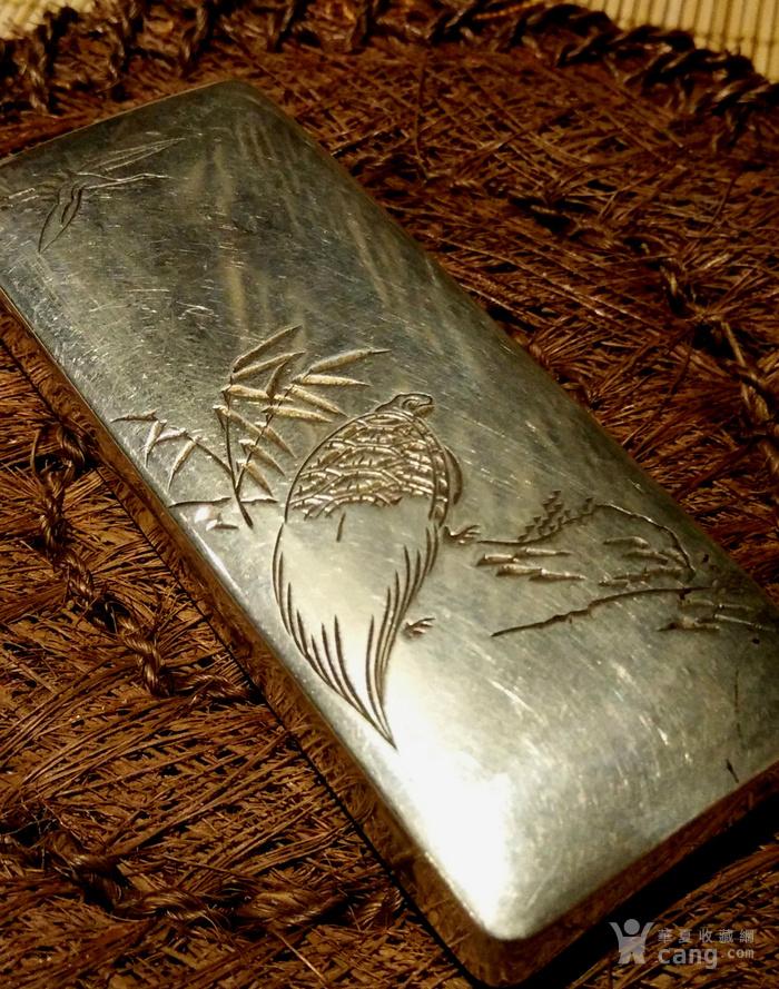 542 日本雕刻小银盒 纯银制做名手工刻图6