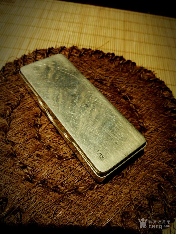 542 日本雕刻小银盒 纯银制做名手工刻图8