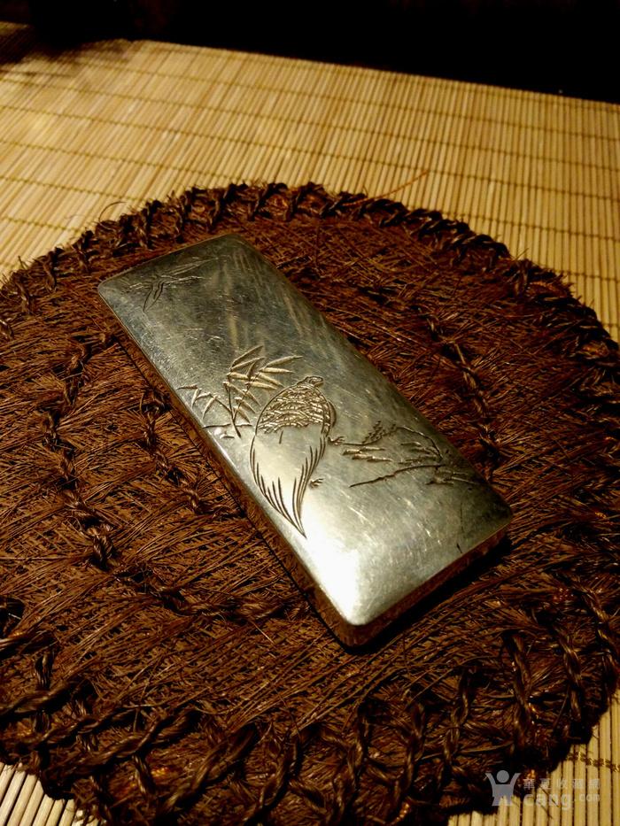 542 日本雕刻小银盒 纯银制做名手工刻图9