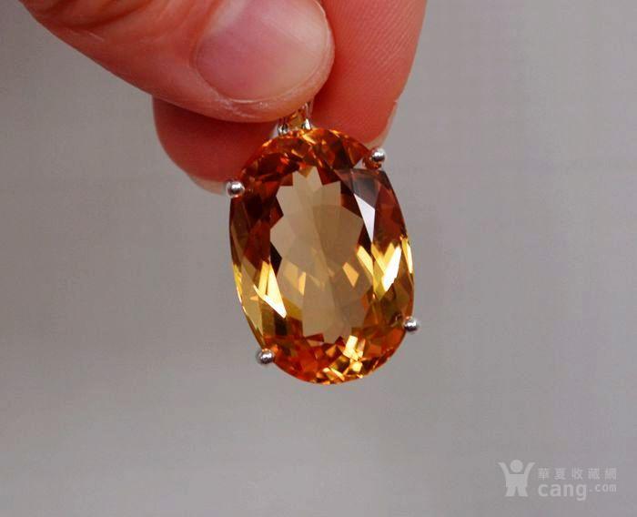 黄水晶吊坠 33.66克拉纯天然黄水晶925银吊坠图2
