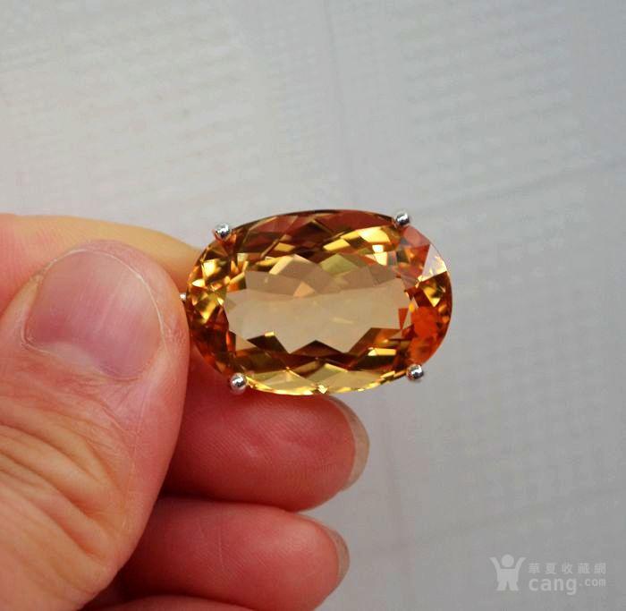 黄水晶吊坠 33.66克拉纯天然黄水晶925银吊坠图5