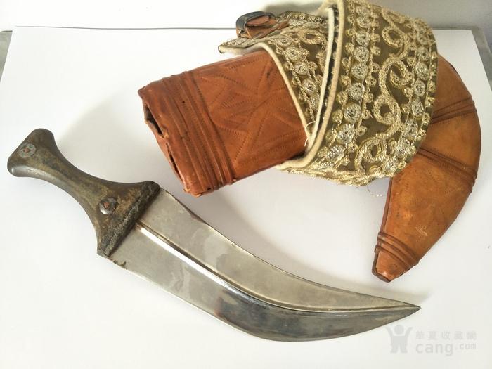 清代蒙古头领刀 刀把图1