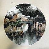 中国青绿山水画 现代风格 5平尺