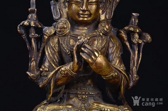 明  铜鎏金文殊菩萨图2
