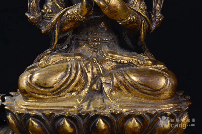 明  铜鎏金文殊菩萨图3
