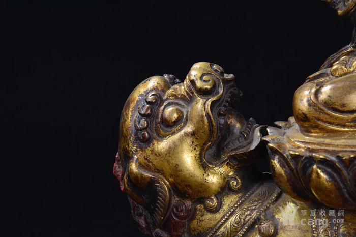 明  铜鎏金文殊菩萨图4