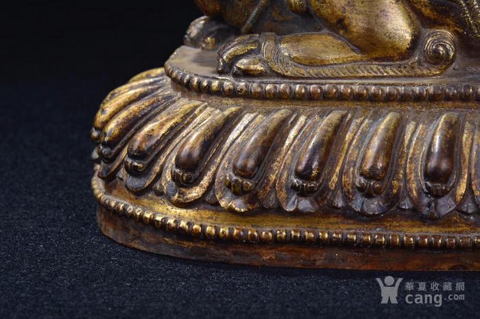 明  铜鎏金文殊菩萨图5