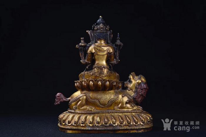 明  铜鎏金文殊菩萨图6