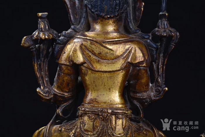 明  铜鎏金文殊菩萨图7