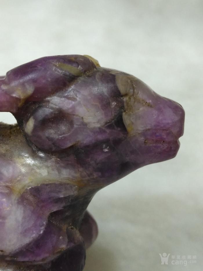 老紫水晶鹿型小摆件图5
