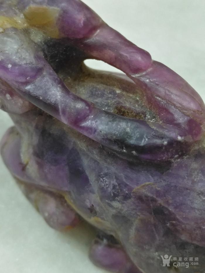 老紫水晶鹿型小摆件图7